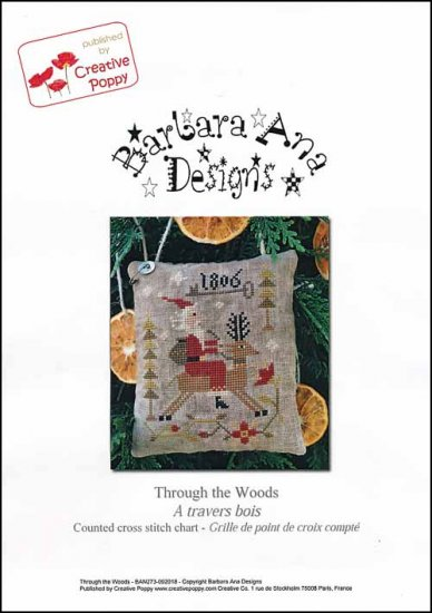 Barbara Ana Designs - Through The Woods-Barbara Ana Designs - Through The Woods, Santa Claus, reindeer, Christmas, Christmas tree, cross stitch