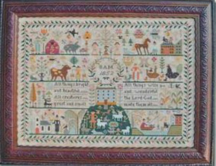 Barbara Ana Designs - All Creatures Great and Small-Barbara Ana Designs - All Creatures Great and Small, animals, God,Lord, cross stitch