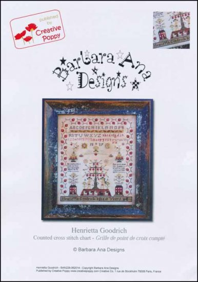 Barbara Ana Designs - Henrietta Goodrich-Barbara Ana Designs, Henrietta Goodrich, sampler, sheep, Adam and Eve, Garden of Eden, God, serpent, apple,  Cross Stitch Pattern