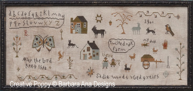 Barbara Ana Designs - Sadie Woods Sampler-Barbara Ana Designs - Sadie Woods Sampler, learning piece,