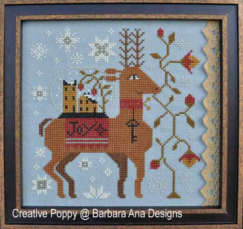 Barbara Ana Designs - Spreading Joy-Barbara Ana Designs - Spreading Joy, reindeer,Christmas, gifts, cross stitch