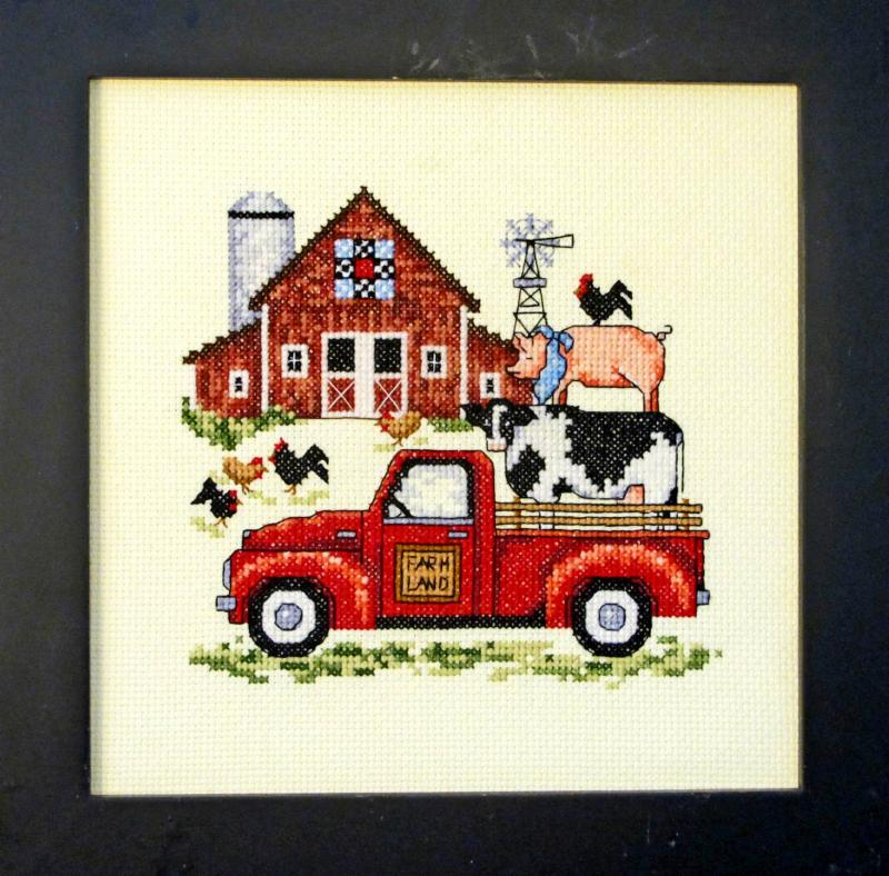 Bobbie G. Designs - Barnyard Fun-Bobbie G. Designs - Barnyard Fun, farm, cow, pig, chicken, animals, cross stitch