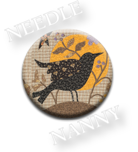 Stitch Dots - Blackbird Designs - Blackbird Needle Nanny-Stitch Dots - Blackbird Needle Nanny by Blackbird Designs, primitive, country, birds, magnets, cross stitch