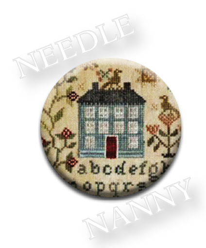 Stitch Dots - Garden Borders Needle Nanny by Blackbird Designs-Stitch Dots - Garden Borders Needle Nanny by Blackbird Designs, magnets, needles, cross stitch,