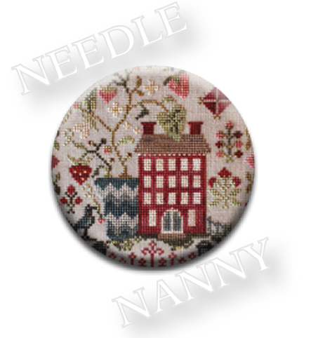Stitch Dots - Strawberry Fields Needle Nanny by Blackbird Designs-Stitch Dots - Strawberry Fields Needle Nanny by Blackbird Designs, Beatles, Strawberry Fields classic rock song, cross stitch, primitive, house,