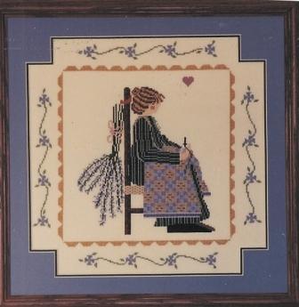Barbara Bourgeau.Richards - Phyllis Louise-Barbara Bourgeau.Richards, Phyllis Louise, quilting, knitting, woman, heart, Cross Stitch Pattern