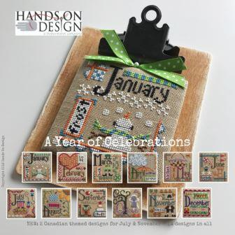 Hands On Design - A Year of Celebrations-Hands On Design - A Year of Celebrations, calendar, monthly, cross stitch