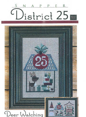 Bent Creek - District 25 - Part 2 of 3 - Deer Watching - Cross Stitch Pattern-Bent Creek,snapper, District 25, Part 2 of 3, Deer Watching, Christmas ornament, Rudolf the red nosed reindeer, Christmas gifts, December 25, Christmas day, cross Stitch Pattern