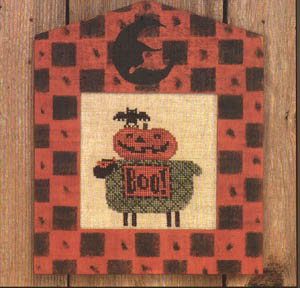 Bent Creek - Betty Boo - Cross Stitch Kit-Bent Creek, Betty Boo, Halloween, bat, pumpkin, lamb, Halloween costumes, Trick or treat,  Cross Stitch Kit