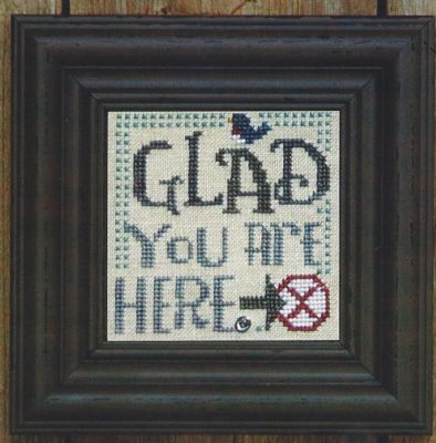 Bent Creek - Welcome to our Home - Snapper Series - Part 4 of 6 - Glad You Are Here - Cross Stitch Pattern-Bent Creek, Welcome to our Home, Snapper Series, Part 4 of 6,  Glad You Are Here, bluebird, x, Cross Stitch Pattern