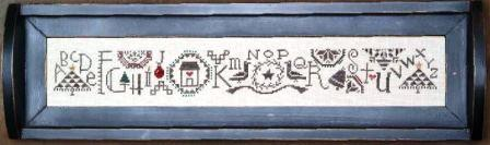 Bent Creek - Quaker Noel Row-Bent Creek - Quaker Noel Row, Christmas, sampler, Christmas tree, festive, alphabet, cross stitch