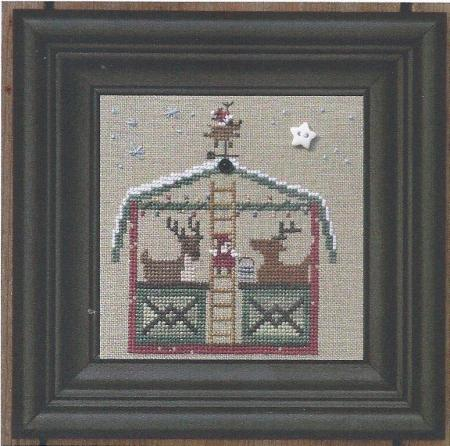 Bent Creek - The Merry Christmas Stable - The Deer Lodge - Cross Stitch Pattern