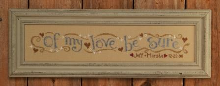 Bent Creek - Wedding Row-Bent Creek - Wedding Row, marriage, love, sampler, hearts, true love, cross stitch, wedding gift,
