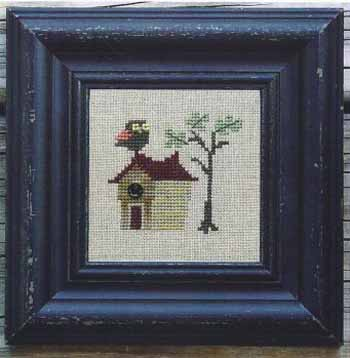 Bent Creek - Coral Winged Owl - Cross Stitch Kit-Bent Creek, Coral Winged Owl, bird house, tree house, bird, owls, Cross Stitch Kit