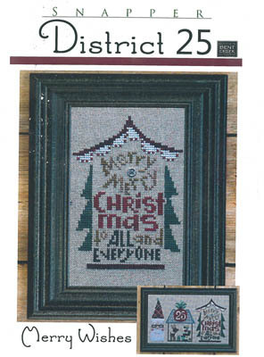 Bent Creek - District 25 - Part 3 of 3 - Merry Wishes - Cross Stitch Pattern-Bent Creek, District 25, Part 3 of 3, Merry Wishes, Christmas ornament, Christmas tree, Cross Stitch Pattern