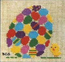 Bent Creek - Egg of Eggs - Cross Stitch Kit-Bent Creek, Egg of Eggs, Easter,. Easter Egg, baby chick, Cross Stitch Kit