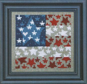 Bent Creek - Flag of Stars - Cross Stitch Kit-Bent Creek, Beach Cottage Stitchers, Flag of Stars, Cross Stitch Kit, 4th of July, USA, Patriotic designs, Red, White  Blue,
