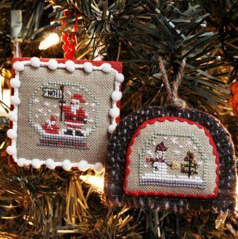 Bent Creek - Flurries - Merry Moments-Bent Creek - Flurries - Merry Moments, Christmas, Santa Claus, snowman, cross stitch