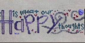 Bent Creek - Think Happy and Be Happy Row - Cross Stitch Pattern-Bent Creek, Think Happy and Be Happy Row, Cross Stitch Pattern