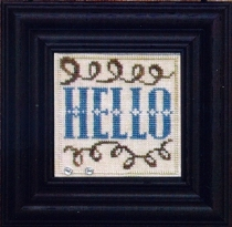 Bent Creek - Welcome to our Home - Snapper Series - Part 2 of 6 - HELLO - Cross Stitch Pattern-Bent Creek, Welcome to our Home, Snapper Series, Part 2 of 6,  HELLO, Greetings, Cross Stitch Pattern