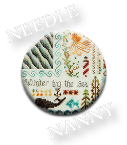 Stitch Dots - Winter By the Sea Needle Nanny by Jeannette Douglas Designs-Stitch Dots - Winter By the Sea Needle Nanny by Jeannette Douglas Designs, magnet, cross stitch