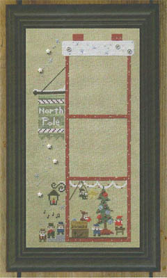 Bent Creek - The Christmas House - Part 1 of 3 The Garland Party - Cross Stitch Pattern-Bent Creek - The Christmas House -The Garland Party - Cross Stitch Pattern