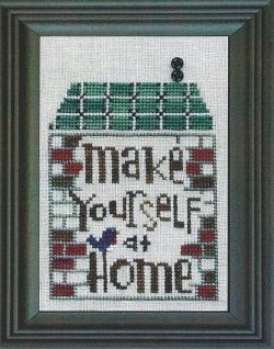 Bent Creek - Welcome to our Home - Snapper Series - Part 5 of 6 - Make Yourself at Home - Cross Stitch Pattern-Bent Creek, Welcome to our Home, Snapper Series,  Part 5 of 6, Make Yourself at Home, Cross Stitch Pattern