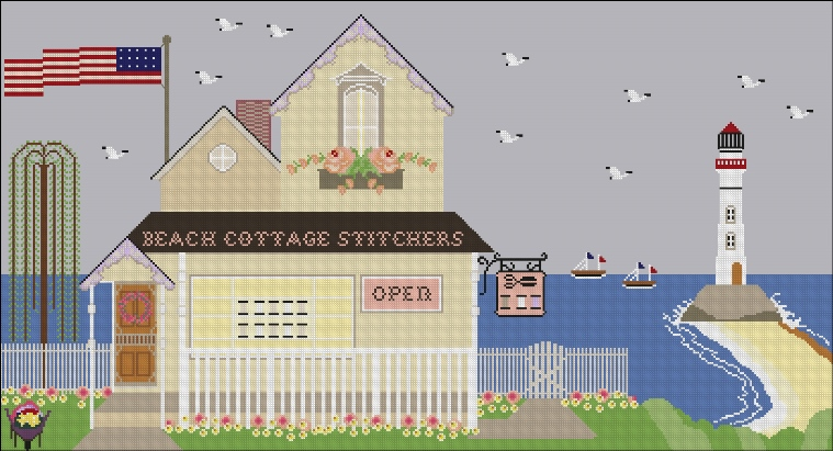 Beach Cottage Needleworks - Stitching at the Beach