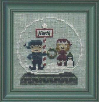 Bent Creek - North Pole Globe - Cross Stitch Kit-Bent Creek, North Pole Globe, Cross Stitch Kit