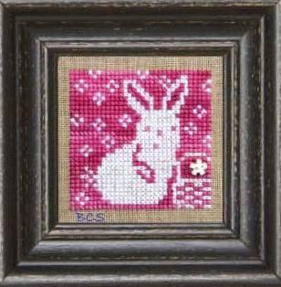 Bent Creek - Pink + White - Cross Stitch Pattern-Bent Creek, Pink + White, bunny, easy, easter bunny, Cross Stitch Pattern