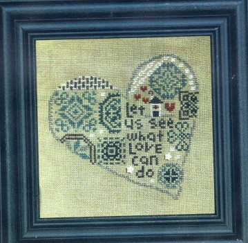 Bent Creek - Quaker Heart-Bent Creek - Quaker Heart, love, hearts, marriage, cross stitch