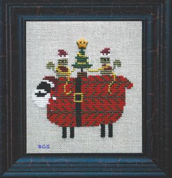 Bent Creek - Santa Sheep says Merry Christmas to Ewe-Bent Creek - Santa Sheep says Merry Christmas to Ewe, sheep, Santa Claus, squirrels, Christmas trees, Christmas, Cross stitch kit,