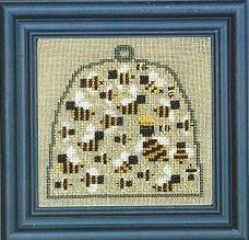 Bent Creek - Skep of Bees Kit-Bent Creek - Skep of Bees Kit, beehive, insects,flowers, cross stitch