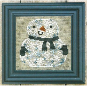 Bent Creek - Snowman of Snowflakes Kit-Bent Creek - Snowman of Snowflakes Kit, snow, winter, snowman, carrot nose, cross stitch kit