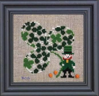 Bent Creek - Clover of Clover - Cross Stitch Kit-Bent Creek, Clover of Clover, St. Patricks Day, 4 leaf clover. Cross Stitch Kit