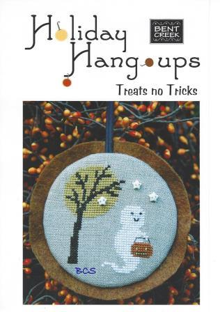 Bent Creek - Holiday Hang-ups - Treats no Tricks Kit-Bent Creek - Holiday Hang-ups - Treats no Tricks, Halloween, ghost, candy, trick or treat, cross stitch