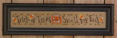 Bent Creek - Trick or Treat Row-Bent Creek - Trick or Treat Row , Halloween, pumpkin, candy corn, cross stitch