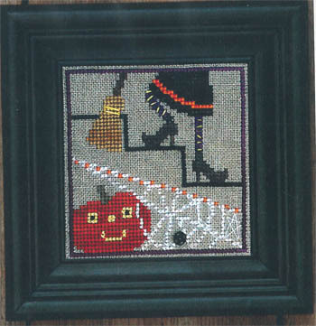 Bent Creek - Spooky Spinners Snapper Series - Part 2 of 5 - Under the Stairs - Cross Stitch Chart Pack-Bent Creek, Spooky Spinners Snapper Series, Part 2 of 5, Under the Stairs, Halloween,  Cross Stitch Chart Pack
