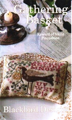 Blackbird Designs - Gathering Basket-Blackbird Designs - Gathering Basket, bird, sampler, pin cushion, basket, trees,