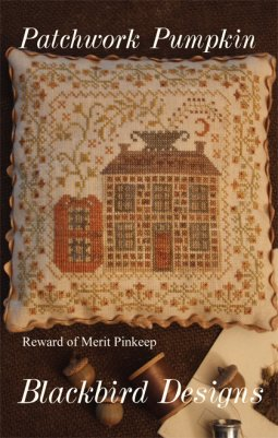 Blackbird Designs - Patchwork Pumpkin - Reward of Merit Pinkeep-Blackbird Designs - Patchwork Pumpkin - Reward of Merit Pinkeep, fall. pumpkin, home,