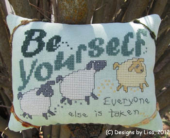 Designs by Lisa - Be Yourself - Cross Stitch Chart