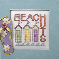 Hinzeit - Beach Huts-Hinzeit - Beach Huts, ocean, sand, sea, cross stitch