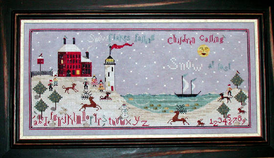 Praiseworthy Stitches - Winter at Beacon House - Cross Stitch Pattern