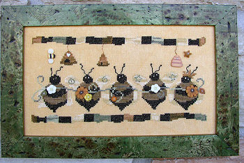 SamSarah Design Studio - Bee Line - Cross Stitch Pattern