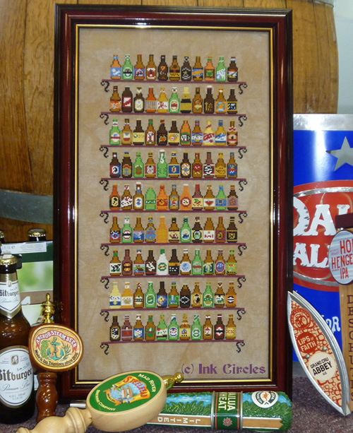 Ink Circles - 99-Ink Circles - 99 - Cross Stitch Pattern, beer, bar, draft, drinking,