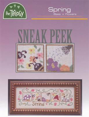 The Trilogy - Sneak Peek Spring Part 2 of 3 Bees & Flowers Cross Stitch Pattern