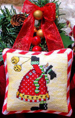 Bobbie G. Designs - Snowman's Bells - Cross Stitch Pattern
