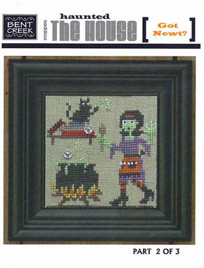 Bent Creek - The Haunted House - Part 2 of 3 - Got Newt? -  Cross Stitch Pattern-Bent Creek  The Haunted House Part 2 of 3 Got Newt? -  Cross Stitch Pattern