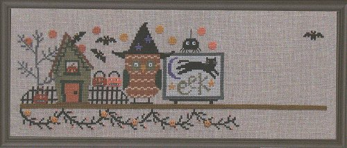 Bent Creek - Spooky Halloween Mantle - Part 2 of 3 - Along Came a Spider-Bent Creek  Spooky Halloween Mantle Part 2 of 3 Along Came a Spider  Cross Stitch Kit