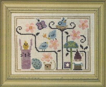 Bent Creek - Oodles of Spring - Cross Stitch Pattern-Bent Creek, Oodles of Spring, Cross Stitch Pattern